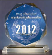 2012 Best in Arvada award for duct cleaning